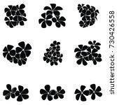 frangipani silhouette | Shutterstock .eps vector #730426558