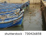 blue fisherman boats in the... | Shutterstock . vector #730426858