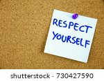 the phrase respect yourself in...   Shutterstock . vector #730427590