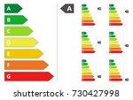 energy efficiency rating   Shutterstock .eps vector #730427998