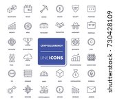 line icons set. cryptocurrency... | Shutterstock .eps vector #730428109
