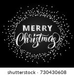 merry christmas card with hand...   Shutterstock .eps vector #730430608