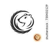 mink elegant logo. fashion fur... | Shutterstock .eps vector #730432129