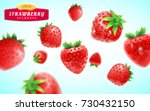 strawberry set  detailed... | Shutterstock .eps vector #730432150