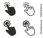 touch vector icons set. black...