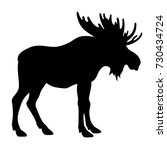 moose silhouette isolated on...   Shutterstock .eps vector #730434724