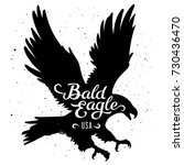 bald eagle silhouette and... | Shutterstock .eps vector #730436470