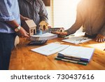 business meetings of real... | Shutterstock . vector #730437616