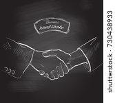 business handshake. gesture ... | Shutterstock .eps vector #730438933