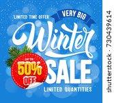 winter sale. design of trendy... | Shutterstock .eps vector #730439614