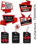 set of black friday big sale... | Shutterstock .eps vector #730444474