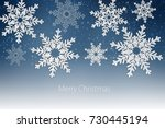 merry christmas and happy new... | Shutterstock . vector #730445194