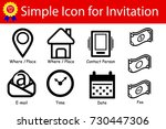 icon sign   place  time  date ... | Shutterstock .eps vector #730447306