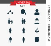 people icons set. collection of ... | Shutterstock .eps vector #730448134