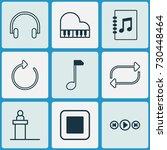 multimedia icons set.... | Shutterstock .eps vector #730448464