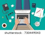 freelance writer or journalist... | Shutterstock . vector #730449043