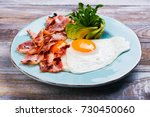 continental breakfast with... | Shutterstock . vector #730450060