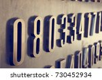 close up of numbers on the... | Shutterstock . vector #730452934
