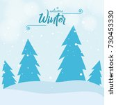 winter season design background ... | Shutterstock .eps vector #730453330