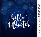 winter season  winter... | Shutterstock .eps vector #730453360