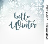 Hello Winter Design Background...