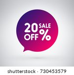 20  offer label sticker  sale... | Shutterstock .eps vector #730453579