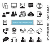 network and communication icons | Shutterstock .eps vector #730453654