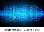 binary circuit board future... | Shutterstock .eps vector #730457140