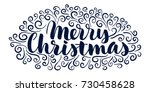 merry christmas  isolated... | Shutterstock .eps vector #730458628