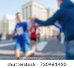 marathon in the city theme... | Shutterstock . vector #730461430