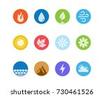 vector round icon set of fire ... | Shutterstock .eps vector #730461526