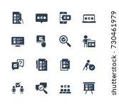 survey  test  quiz icon set in... | Shutterstock .eps vector #730461979