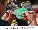 repair of electronic devices ... | Shutterstock . vector #730471276