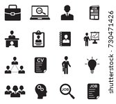job icons. black flat design....   Shutterstock .eps vector #730471426