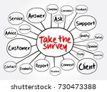 take the survey mind map... | Shutterstock .eps vector #730473388
