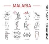 malaria line icon infographics. ... | Shutterstock .eps vector #730474183