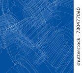 gearbox sketch. vector... | Shutterstock .eps vector #730477060