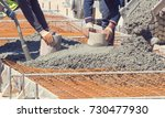 construction worker leveling... | Shutterstock . vector #730477930