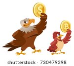 american bald eagle holding... | Shutterstock .eps vector #730479298