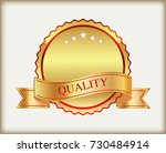 luxury label with ribbon.vector ... | Shutterstock .eps vector #730484914