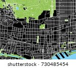 montreal black and white map   Shutterstock .eps vector #730485454