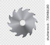 circular saw blade vector icon. | Shutterstock .eps vector #730486180