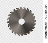 circular saw blade vector icon. | Shutterstock .eps vector #730486204