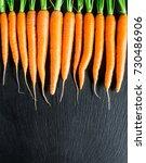 fresh and sweet carrot | Shutterstock . vector #730486906