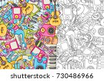 music concept. musical... | Shutterstock .eps vector #730486966