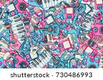 music concept. musical... | Shutterstock .eps vector #730486993