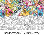 music concept. musical... | Shutterstock .eps vector #730486999