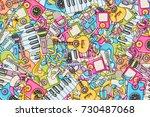 music concept. musical... | Shutterstock .eps vector #730487068
