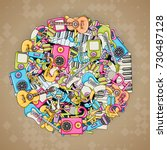 music concept. musical... | Shutterstock .eps vector #730487128