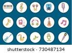 music concept. musical... | Shutterstock .eps vector #730487134